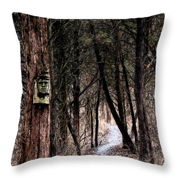 Gently Into The Forest My Friend Throw Pillow