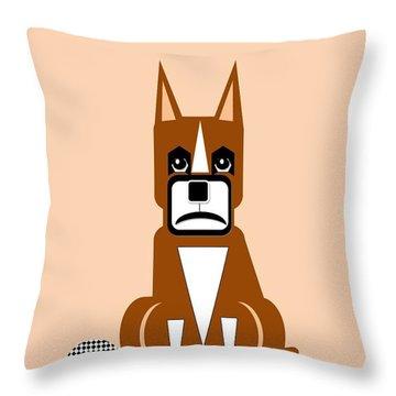 Geo Boxer Throw Pillow by Maria Urso