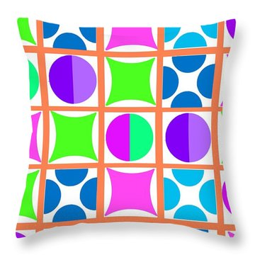 Geo Throw Pillow by Louisa Knight