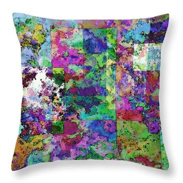 Geometrix  Throw Pillow by Debbie Portwood