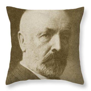 Georg Cantor, German Mathematician Throw Pillow
