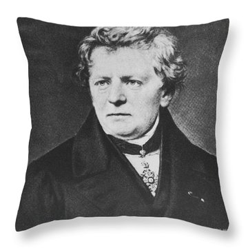 Georg Ohm, German Physicist Throw Pillow by Science Source