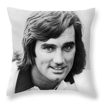 George Best (1946-2005) Throw Pillow by Granger