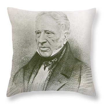 George Cayley, English Aviation Engineer Throw Pillow by Science Source
