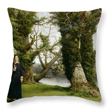 George Herbert At Bemerton Throw Pillow by William Dyce