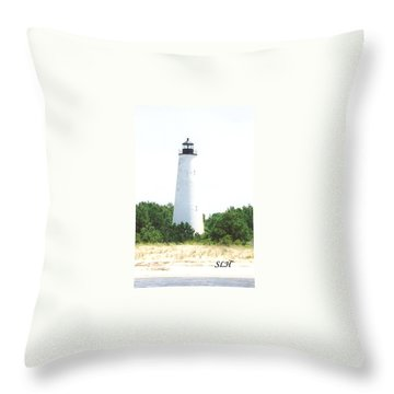 George Town Lighthouse Throw Pillow