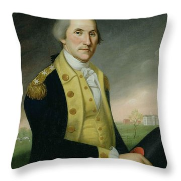 George Washington At Princeton Throw Pillow by Charles P Polk