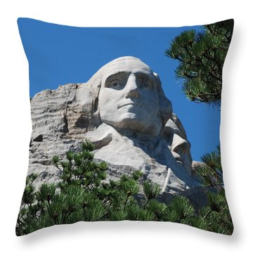George Washington Face  Throw Pillow by Dany Lison