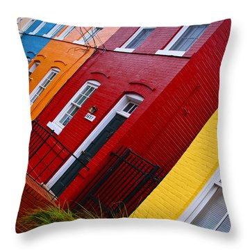 Georgetown Races Throw Pillow by Skip Hunt