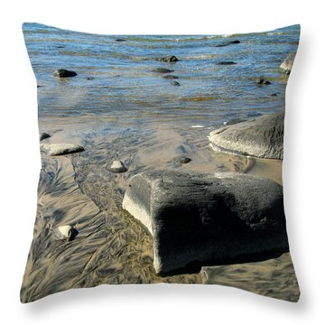 Georgian Bay Rocks Throw Pillow