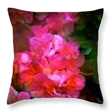 Geranium 9 Throw Pillow by Pamela Cooper