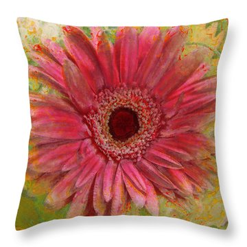 Gerber Photoart Throw Pillow by Debbie Portwood
