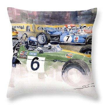 Germany Gp Nurburgring 1969 Throw Pillow by Yuriy  Shevchuk