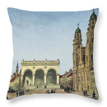 Germany: Munich, C1845 Throw Pillow by Granger