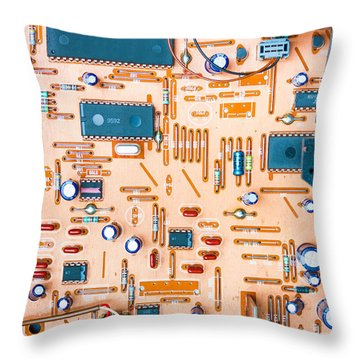 Get Connected Throw Pillow by Semmick Photo