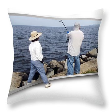 Get The Net Throw Pillow by Brian Wallace