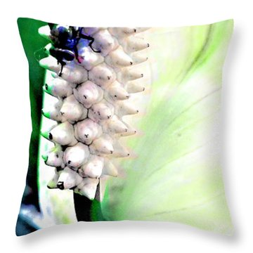 Get Your Own Flower Throw Pillow by Danielle  Parent