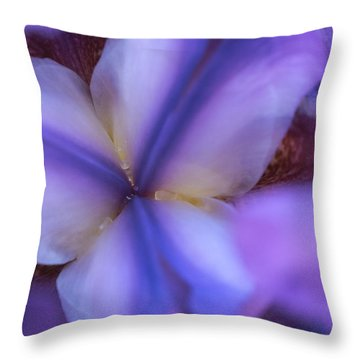 Getting Intimate With Iris Throw Pillow