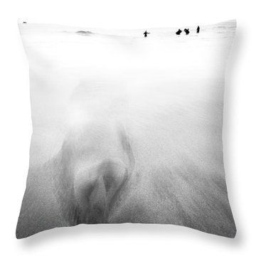 Getting Wet Throw Pillow by Dorit Fuhg