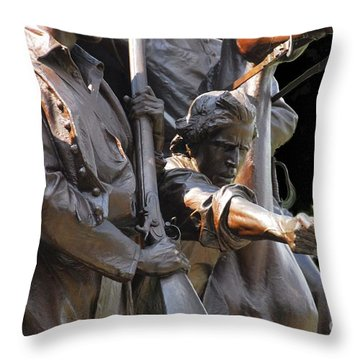 Gettysburg Monument Throw Pillow by Cindy Manero