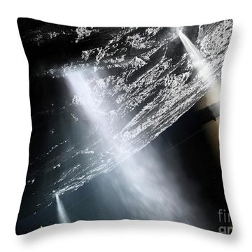 Geysers Of Enceladus Showing Throw Pillow by Brian Christensen
