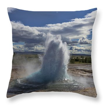 Throw Pillow featuring the photograph Geysir 2 by David Gleeson