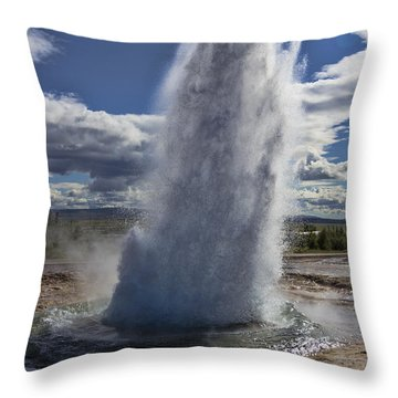 Throw Pillow featuring the photograph Geysir 3 by David Gleeson