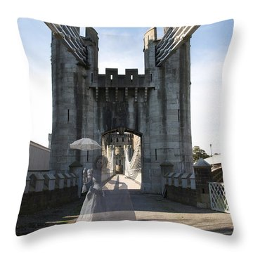 Ghost Bridge Throw Pillow