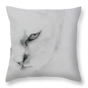 Ghost Cat Throw Pillow