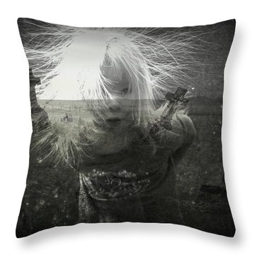 Ghost Child Throw Pillow by Shirley Sirois