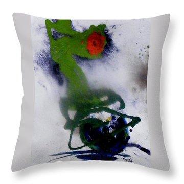 Ghost Flower Throw Pillow