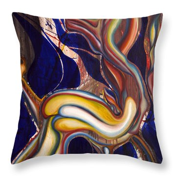 Ghost Horse And Still Born Throw Pillow