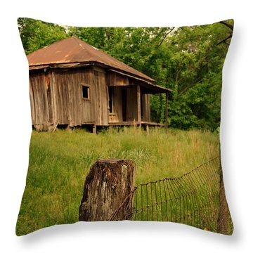 Ghost House Throw Pillow by Marty Koch