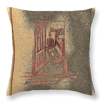 Ghost Stories Farmhouse Throw Pillow by First Star Art