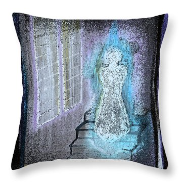 Ghost Stories Haunted Stairs Throw Pillow by First Star Art