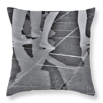 Throw Pillow featuring the digital art Ghost Walkers by Victoria Harrington
