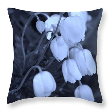 Throw Pillow featuring the photograph Ghostly Blooms by Mary Zeman