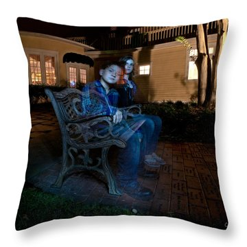 Ghostly Cousins Throw Pillow by Christopher Holmes