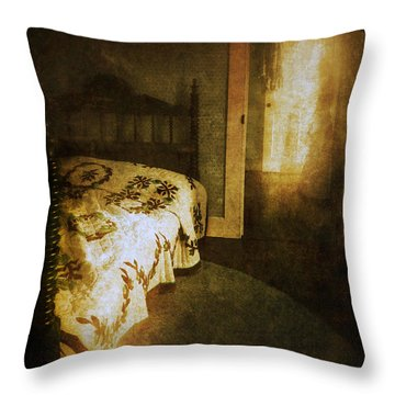 Ghostly Figure In Hallway Throw Pillow by Jill Battaglia