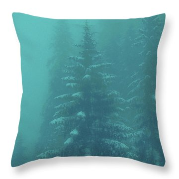 Ghostly Trees In Oils Throw Pillow by Al Bourassa
