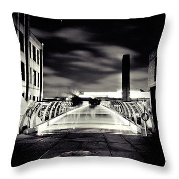 Ghosts In The City Throw Pillow