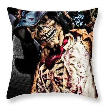Ghoulie Throw Pillow by Christopher Holmes