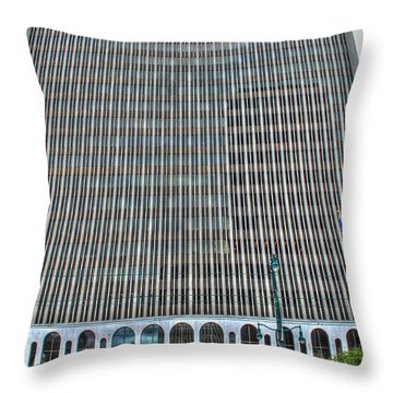 Throw Pillow featuring the photograph Giant Bank Of M And T by Michael Frank Jr
