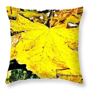 Giant Maple Leaf Throw Pillow