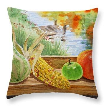 Gifts From Fall Throw Pillow by Irina Sztukowski