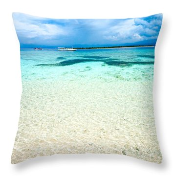 Throw Pillow featuring the photograph Gili Meno - Indonesia. by Luciano Mortula
