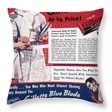 Gillette Razor Ad, 1939 Throw Pillow by Granger