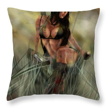 Gimme Shelter Throw Pillow by Pete Tapang