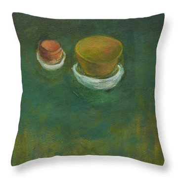 Throw Pillow featuring the painting Ginger Pot by Kathleen Grace