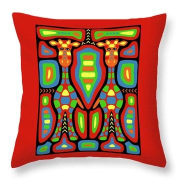 Giraffe Mola Throw Pillow